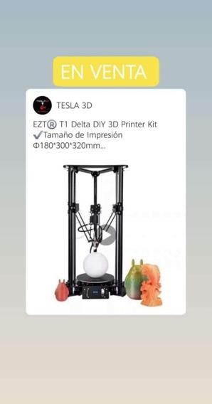 Impresora 3d Delta Ezt 320x180mm