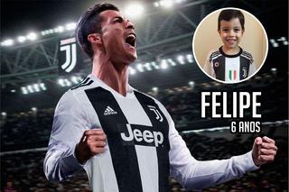 Painel Lona Cristiano Ronaldo Juventus + Nome Foto Seu Filho