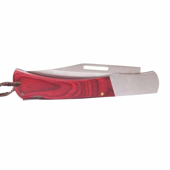 Canivete Indian Lâmina Em Aço Inox E Cabo De Madeira Ntk