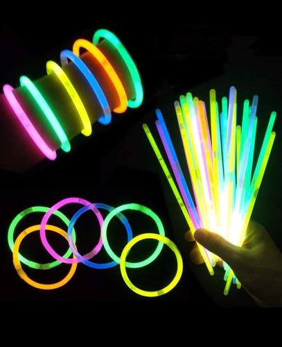 50 Barras Colores Neon 20 Cm Hora Loca Fiesta Manilla Piñata