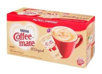 Imagen 1 de 3 de Sustituto De Crema Nestlé Coffee Mate 200 Pzas De 4 G