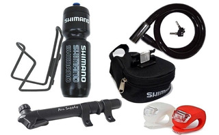 Kit Bicicleta Bolso Shimano Inflador Porta Y Botella Linga