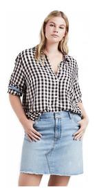 Camisa Levis Feminina Ryan One Pocket Plus Size Xadrez