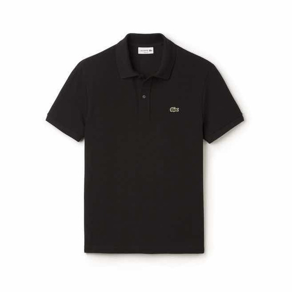 Polo Lacoste Corte Slim Fit En Color Negro Nueva Y Original