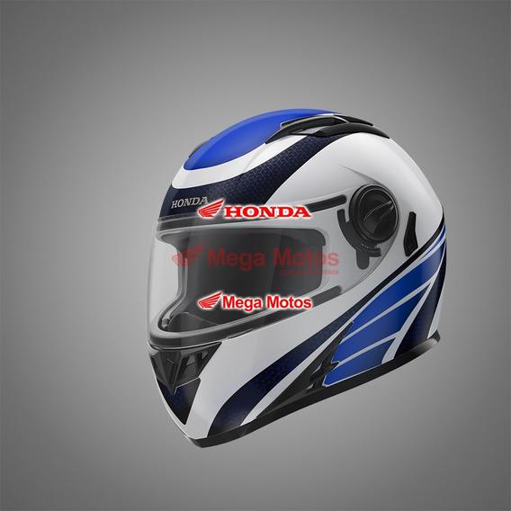 Capacete Hf2 Honda Branco/azul