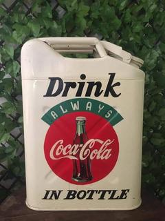 Galón/ Bidón Para Gasolina Coca Cola Antiguo !!!