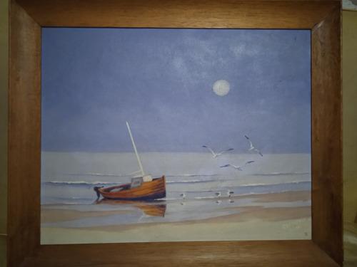 Imagen 1 de 2 de Pintura Al Oleo Del Artista Uruguayo Miguel Angel  Raphy