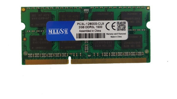 Memória Ddr3l 2gb 1600mhz Pc3l Cl-9 Notebook
