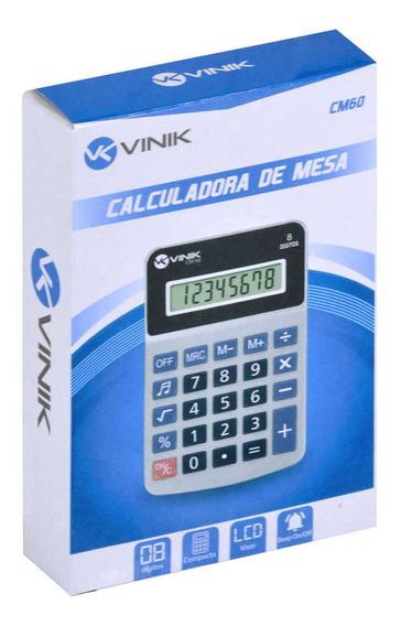 Calculadora De Mesa 8 Dígitos Com Botão De Bipe Cm60 Branca