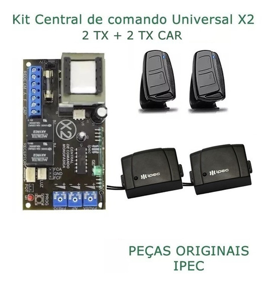 Placa Central P/ Motor Portão Ipec 4 Trimpots 2tx + 2tx Car