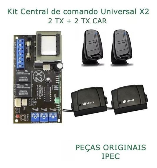 Placa Central P/ Motor Portão Ipec 4 Trimpots 2tx + 2tx Car