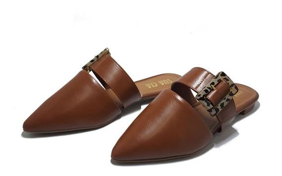 Mule Sapato Sua Cia Caramelo Rasteira Feminina Original