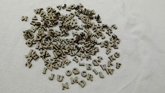 Letras Fibrofácil De 1 Cm. Por 200 Unidades