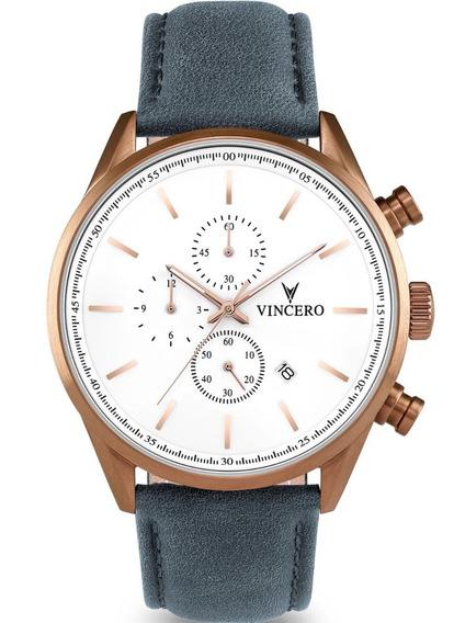 Reloj Vincero Luxury Gris Azul Hombre Cop-blugr-s17