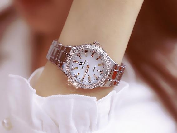 Relógio Feminino De Pulso Prateado