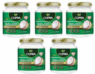 Kit 5 Óleo De Coco Extra-virgem 200ml Copra