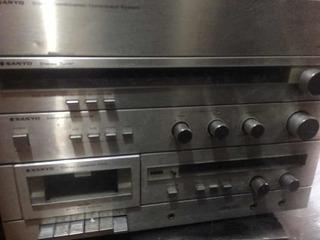 Equipo Sanyo Fisher Coleccion 1974 Tocadisco Casette Radio