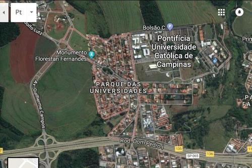 Ótimo Lote Próximo Ao Campus Da Pucc, Excelente Local Para Construção De Kitnets. Fácil Saida Para A Rodovia D. Pedro - Te1888