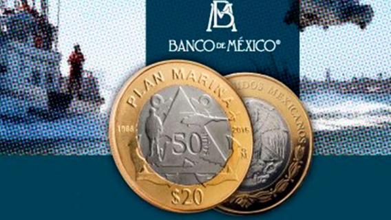 20 Pesos Marina 2016 Capsula Y Envio X 2 Piezas Nuevas #1fv