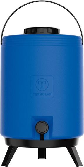 Botijão Térmico Com Torneira Maxitermo Azul 12l Termolar