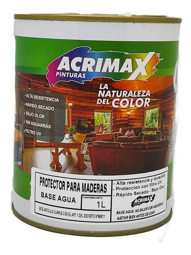Protector Para Maderas Al Agua 1 L - Acrimax Pinturas
