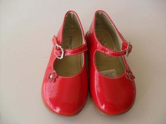 Zapatos De Vestir Rojos De Niña Talla 25