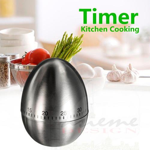 Timer Temporizador Alarma Minuto Cocina - Huevo Acero