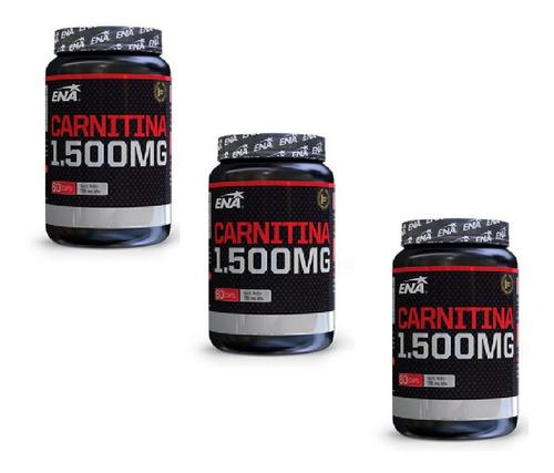 Carnitina 1500 Mg (60 Caps) Ena - Quemador X 3 Unidades!