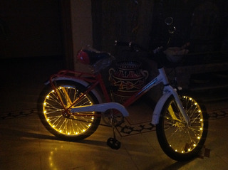 Bicicleta Para Nena Con Luces En Las Ruedas