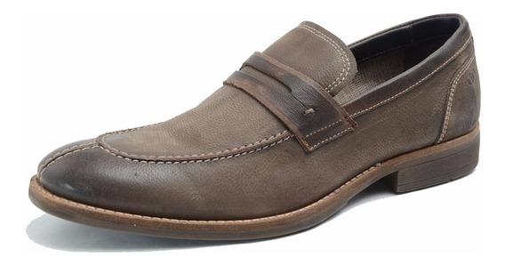 Zapato De Cuero Democrata Hombre Mocasin Vincha 050103