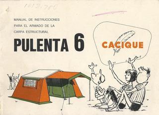 Carpa Estructural De Lona Camping Cacique 6 Personas