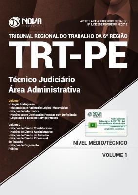 Apostila Trt Pe 6 ª Região 2018 Técnico Judiciario Ed Nova