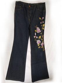 Pantalon Para Dama Pintado A Mano