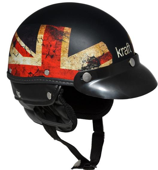 Capacete Kraft Esporte Inglaterra Preto G - Coquinho Custom
