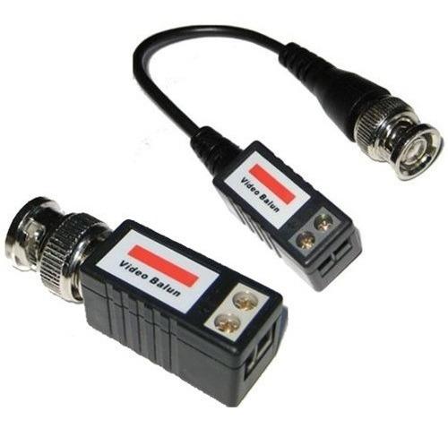 Imagen 1 de 3 de Balun Pasivo Cctv Camara Bnc A Cable Utp X 10 Unidades
