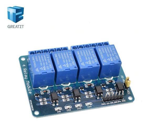 Módulo Relé 4 Canais 5v Para Arduino, Pic, Raspberry Pi