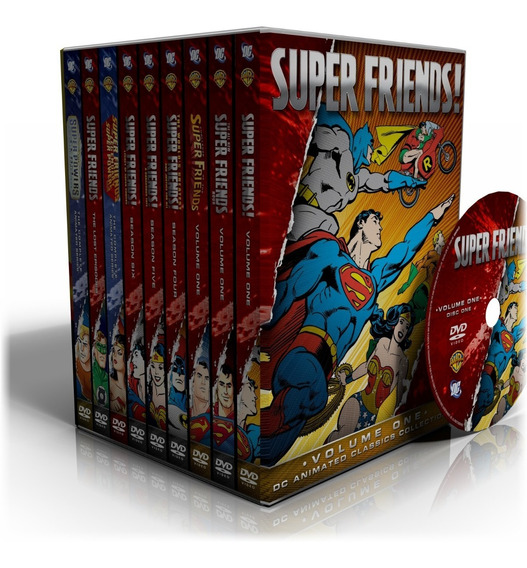 Dvd Os Super Amigos (super Friends) - 9 Temporadas