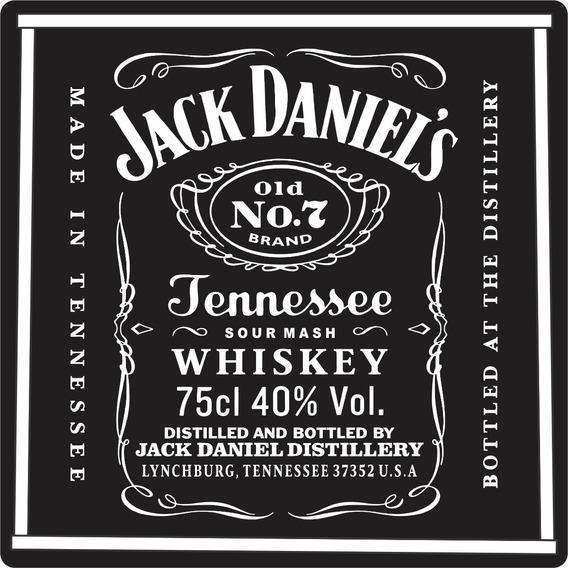 Quadros Decorativos Acrílico Gourmet Bebidas Jack Daniels