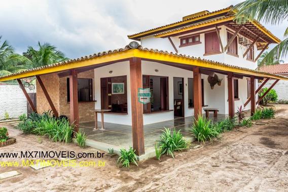 Casa De Praia Rustica Mobiliada De 4 Grandes Suítes. (estilo