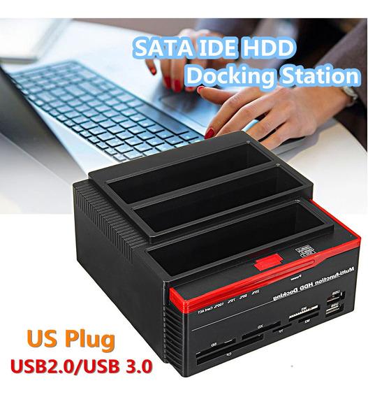 2.5/3.5 Externo Dual Sata Ide Hdd Disco Rígido Docking Stati
