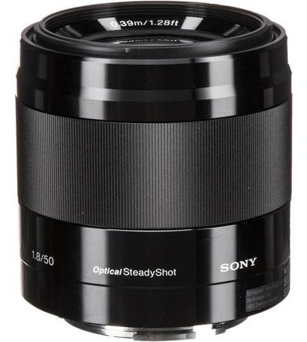 Lente Sony E 50mm F 1.8 Oss Nova 1 Ano De Garantia + Ne