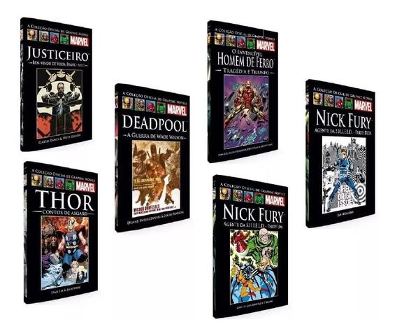25 Livro Hq Graphic Novels Marvel Salvat Capa Preta Barato