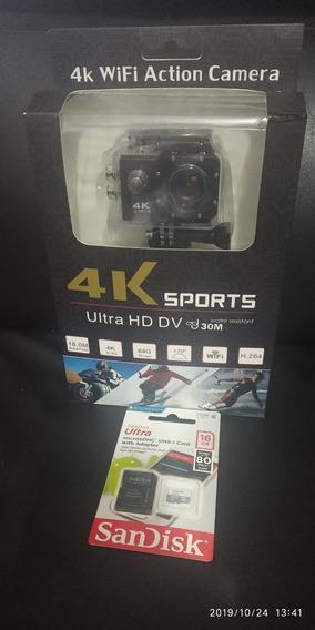 Camera 4k Sport Wifi+memoria 16gb