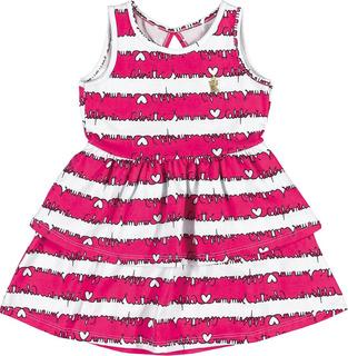 Vestido Infantil Coloritta Em Cotton Confort Pink