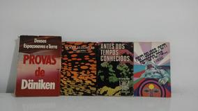 Lote 4 Livros Antigos Ufologia - Däniken Kolosimo Fiebcaist