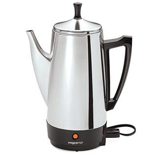 Cafetera Electrica Presto, De Acero Inoxidable, Rinde 12 Taz