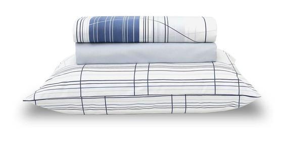 Jogo De Lençol 100% Algodão Home Design Graphic Queen Azul