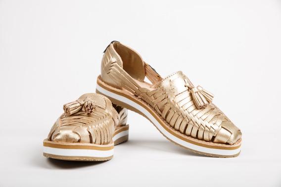 Zapato Huarache Dama Artesanal Piel Pazos