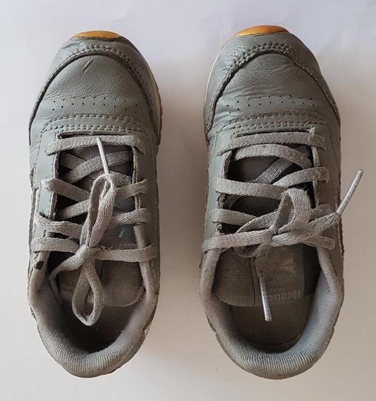 Zapatillas Niño Reebok Classic Leather Cuero Talle 25 O 9 Us