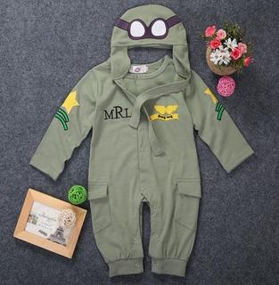 Fantasia Infantil Aviador Piloto Das Forças Armadas Bebê